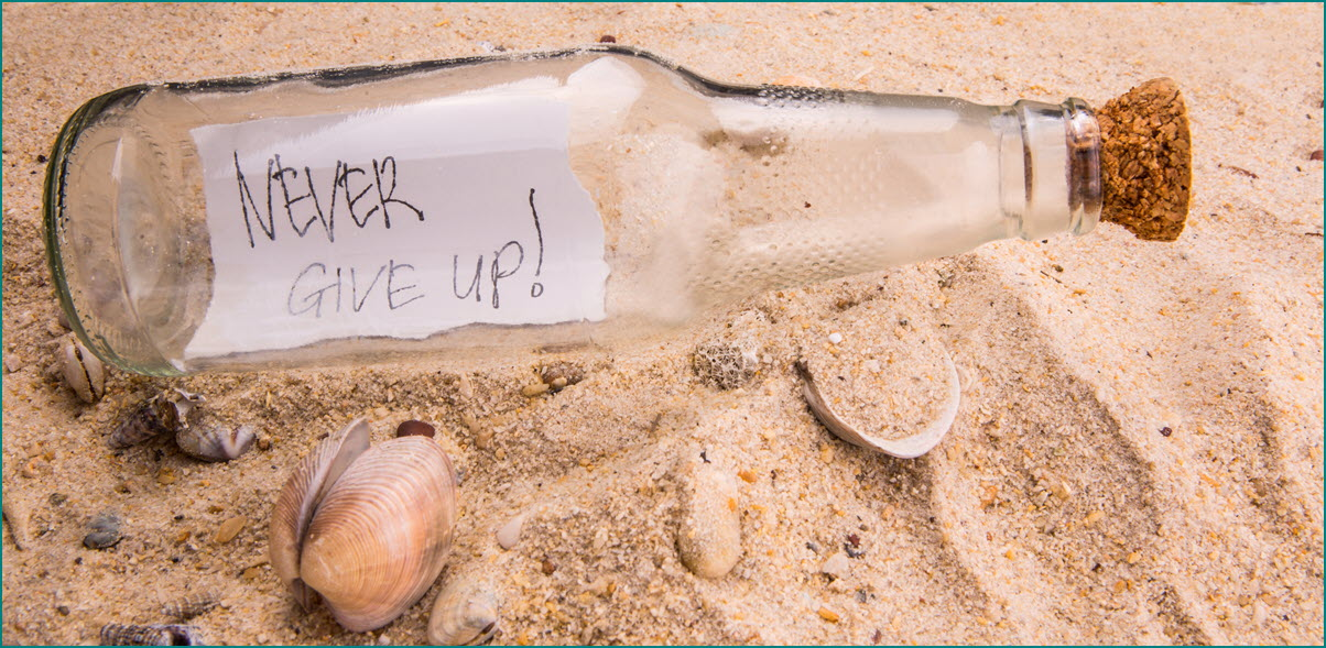 Message in a Bottle- Never Give Up