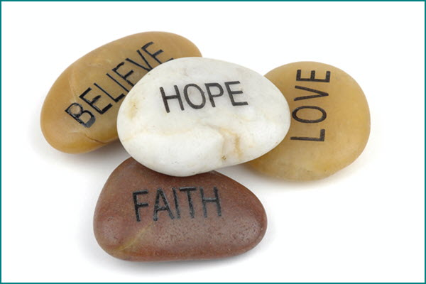 Hope Love Faith Stones